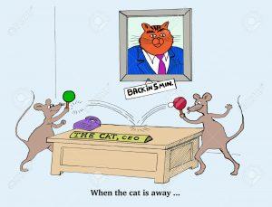 cuando el gato no estálos ratones bailan